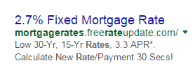 adwords mortgage rates