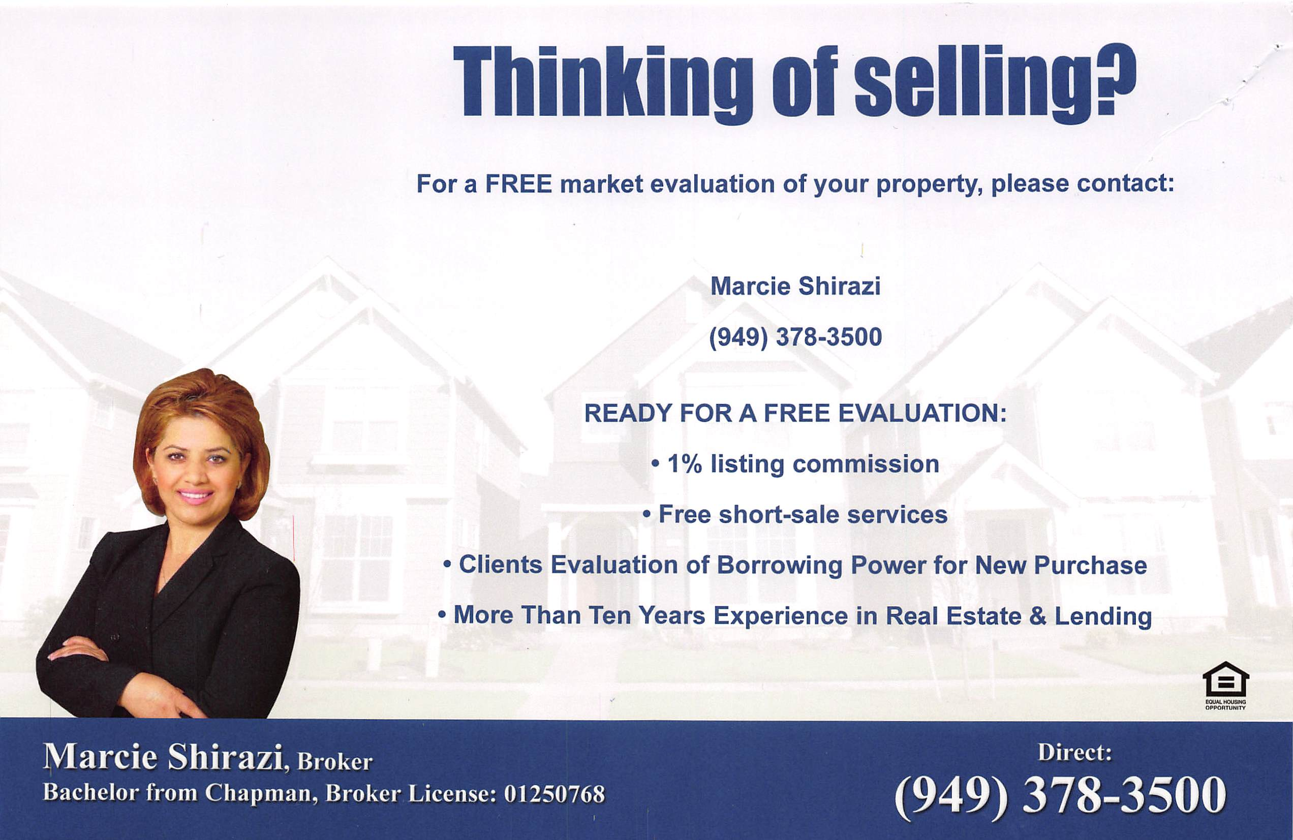 Realtor Ad – Advertises Real Estate Services and Mortgage ...